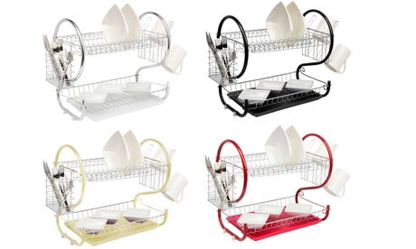 Neo Two-Tier Dish Rack with Drainer