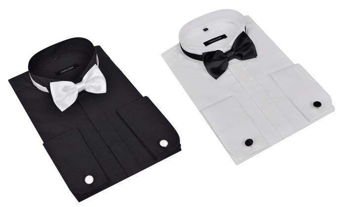 Heren Overhemd Met Manchetknopen.Overhemd Met Manchetknopen Groupon Goods