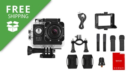Free Shipping: 1080p Waterproof Mini Sport Camera: One $39.95 or Two $59.95