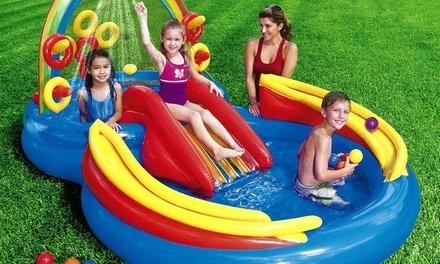 Intex Rainbow Rings Water Slide Play Centre