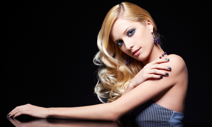 Model Call Salon - Multiple Locations: Haircut and Blow-Dry with Option for Partial Highlights or a Root Touchup at Model Call Salon (Up to 57% Off)