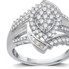 3/4 CTTW Diamond Engagement Ring in Sterling Silver By DeCarat