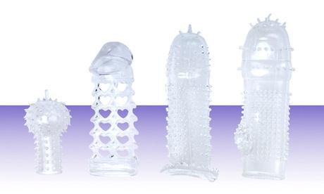 XR Brands Textured Penis Enhancement Sleeves (4-Pack) 69d9832e-ff9a-11e7-81fe-00259069d7cc