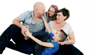 """The Picture Company: Family Photoshoot with 20""""x30"""" Framed Canvas at The Picture Company (93% Off)"""