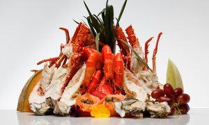 Lagoon Seafood Restaurant: Seafood Platter with Lobster Mornay + Wine for two ($149) or Six ($439) at Lagoon Seafood Restaurant (Up to $631 Value)
