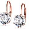 Swarovski Crystal Earrings in 18k Rose Gold Plating by Mina Bloom