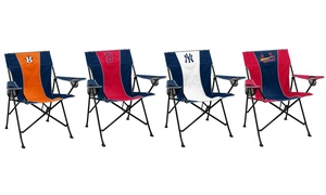 Logo Brands MLB Pregame Chair with Adjustable Armrest and Cupholders