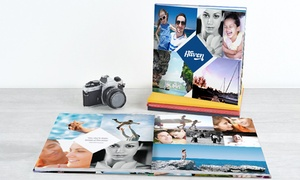 Photobook America: Lay-Flat Hardcover Photo Book in Landscape, Portrait, or Square Style from Photobook America (Up to 91% Off)