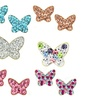 Kids Crystals Butterfly Stud Earrings in 14K Gold