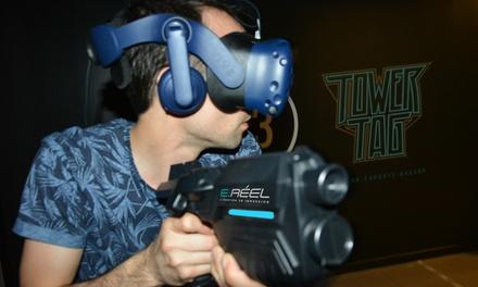 """Laser game en réalité virtuelle """"Tower tag shooting VR"""" d'1h pour 2, 4 ou 6 personnes dès 39,90 € chez E Reel Annecy"""