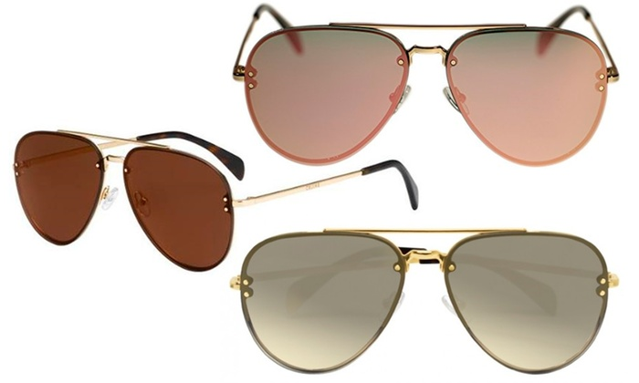 c9c983afff09 Céline Women s Oversized Aviator Sunglasses
