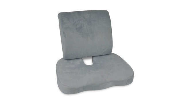 Memory Foam Seat Cushion Lumbar Back Support: One ($19) or Two ($35)