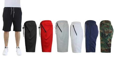 Men's Tech Fleece Shorts with Side Zipper Pockets