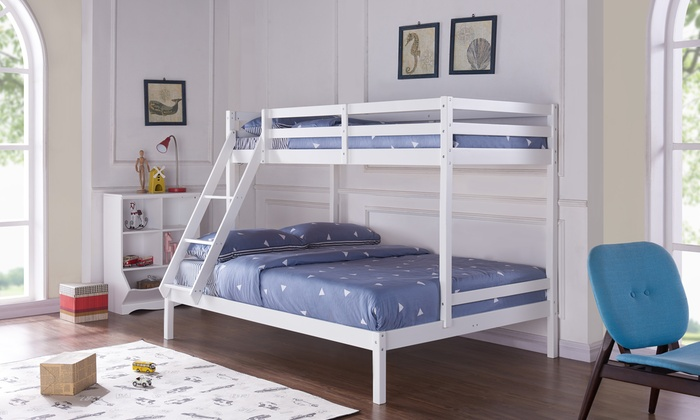 Circinus Triple Bunk Bed with Slanting Ladder and Optional Mattresses