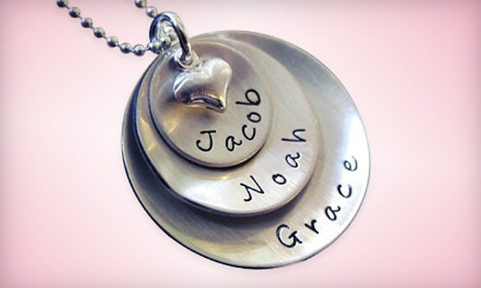 AJ's Collection: Personalized Jewelry from AJ's Collection (Up to 55% Off). Three Options Available.