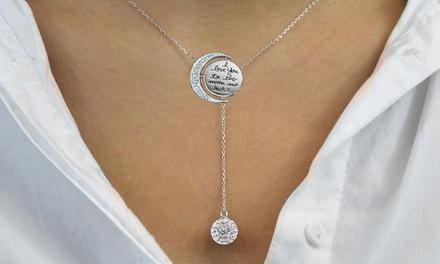 1 ou 2 colliers Moon and Back de la marque Philip Jones ornés de cristaux Swarovski®