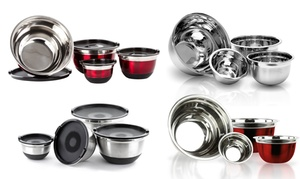 Stainless Steel German Mixing Bowls - Set of 4