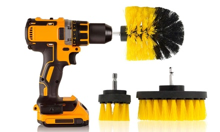 Three-Piece Drill Cleaning Brush Head Sets