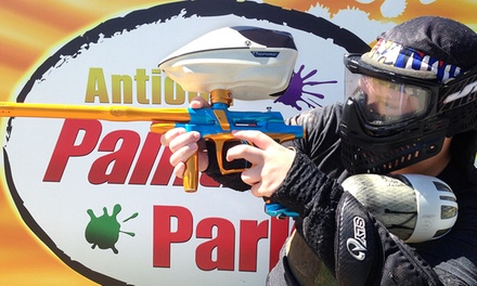 All-Day Paintball Outing for 5 or 10 at Antioch Paintball Park (83% Off)