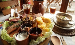 Folwark Nadawki: Tradycyjna kuchnia podlaska: uczta dla 2 osób za 79,99 zł i więcej opcji w Folwarku Nadawki (do -47%)