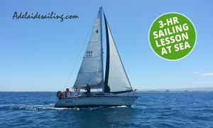 Adelaide Sailing: Three-Hour Sailing Lesson at Sea for 1 ($60), 2 ($120) or 4 ($240) People with Adelaide Sailing (Up to $400 Value)