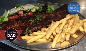 Harry's Grill: Two-Course Rib Dinner and Wine for Two ($49), Four ($98), or Eight ($196) at Harry's Grill, Arncliffe (Up to $378 Value)