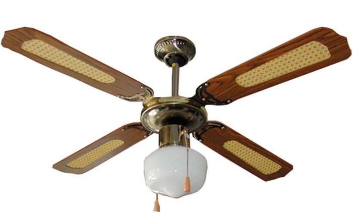 Ventilador de techo 42 39 39 con luz groupon goods - Lampara de techo con ventilador ...