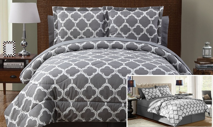 Galaxy Reversible Bed In A Bag Comforter Set With Sheets 6 Or 8 Pc