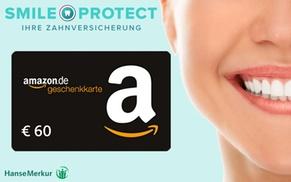 SmileProtect: 60 € Amazon.de Gutschein sichern bei Abschluss einer SmileProtect Zahnzusatzversicherung