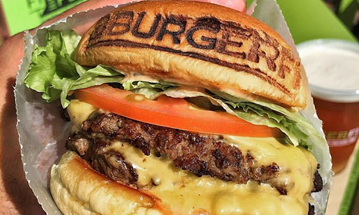 BurgerFi - Sanford: All-Natural, Grass Fed Burgers for Dinner for Two or More at BurgerFi (40% Off). Two Options Available.