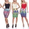 White Mark Women's Paisley Pencil Skirt