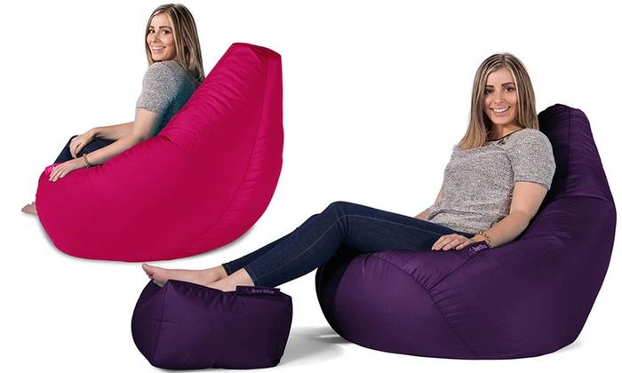 big bertha pouf large groupon shopping. Black Bedroom Furniture Sets. Home Design Ideas