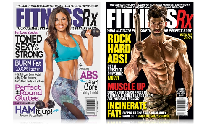 Fitness Rx Magazine For Men Or Women One Year 6 Issue Subscription