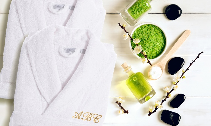 Linum Towels: Luxury 100% Turkish Cotton Bathrobe with Optional Three-Letter Monogram from Linum Towels (Up to 69% Off)