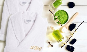 Luxury 100% Turkish Cotton Bathrobe With Optional Three-letter Monogram From Linum Towels (up To 69% Off)