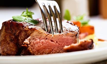 Menu di carne con 3 portate, dolce e vino