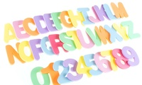 36-Piece Foam Letters and Numbers Set