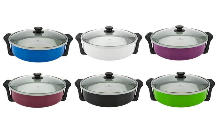 Extra Large 14 Quot Electric Ceramic Skillet Groupon