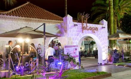 Menú de arroz para 2 con aperitivo, surtido de 3 entrantes, principal, postre y bebida por 29,95 € en Casa Fataga