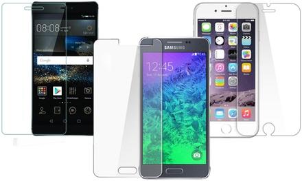 1 o 2 protectores de pantalla de cristal templado para varios modelos de smartphones