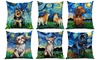 "Soft Velvet Starry Night Dogs Toss Pillows (16""x16"")"