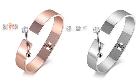 Hasta 2 conjuntos de brazaletes y pendientes con incrustaciones de cristales de Swarovski ®