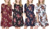 Women's Floral Hacci Dress with Pockets