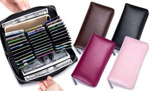 (Mode)  Portefeuille 100% cuir Léa RFID -58% réduction