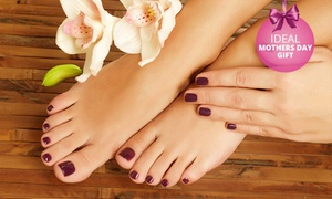Double Infinity: Nail Treatments with Gel Overlays from R89 at Double Infinity (Up to 66% Off)