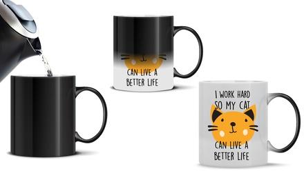 One or Two Novelty Print Magic Mugs