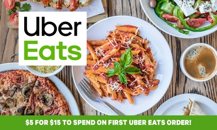 $5 Credit Towards Your First Uber Eats Order New Users Only