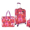 French West Indies 4-Piece Flower-Print Luggage Set