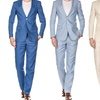 Gino Vitale Men's Slim-Fit 100% Linen Suit (2-Piece)