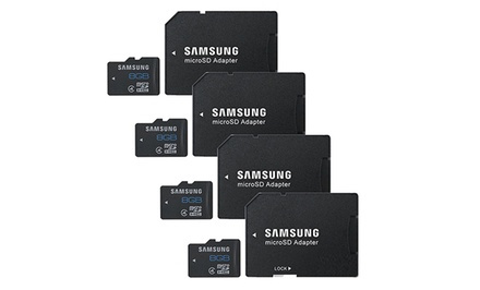 4-Pack of Samsung 8GB Class 4 MicroSD Memory Cards
